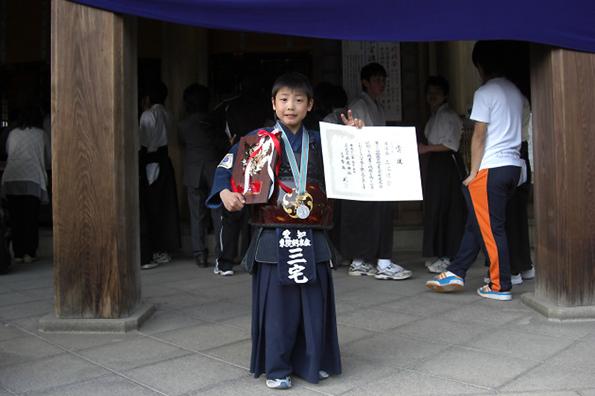 第39回砥鹿神社例祭奉納少年少女剣道大会 個人戦 少年の部 準優勝 三宅涼介