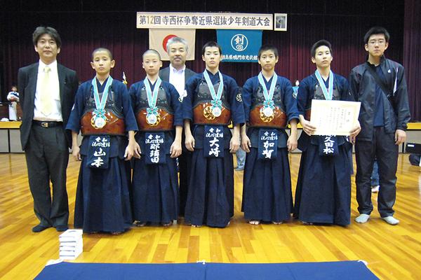 第12回寺西杯争奪近県選抜少年剣道大会 中学生 洗心道場Aチーム