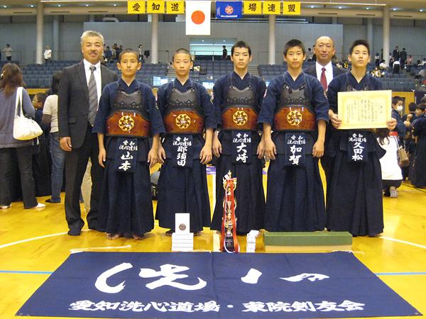 平成21年度愛知県剣道道場連盟「近藤杯」争奪剣道大会 – 中学生の部