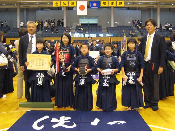 平成21年度愛知県剣道道場連盟「近藤杯」争奪剣道大会 – 小学生低学年の部