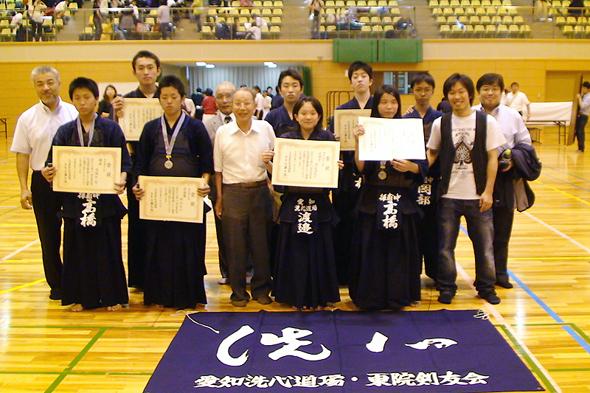 第8回名古屋市剣道選手権大会 中学生・高校生入賞者