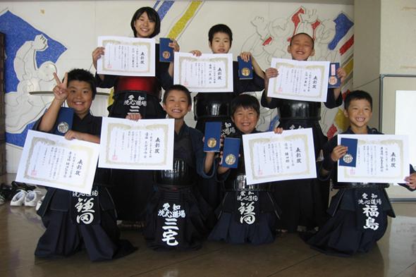 なごやマイ・スポーツフェスティバル剣道大会 小学生の部入賞者