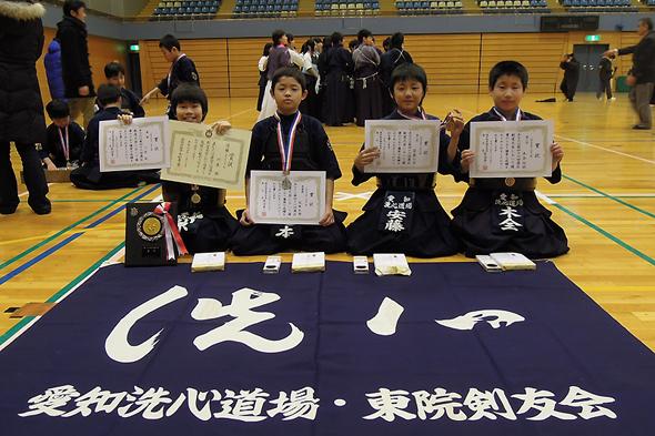 第46回港区剣道大会 小学5・6年生の部 入賞者