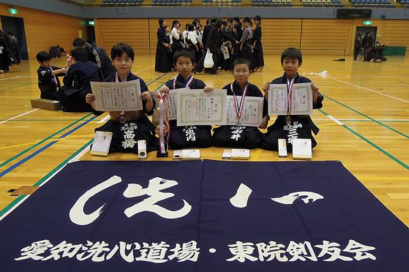 第46回港区剣道大会 小学3・4年生の部 入賞者