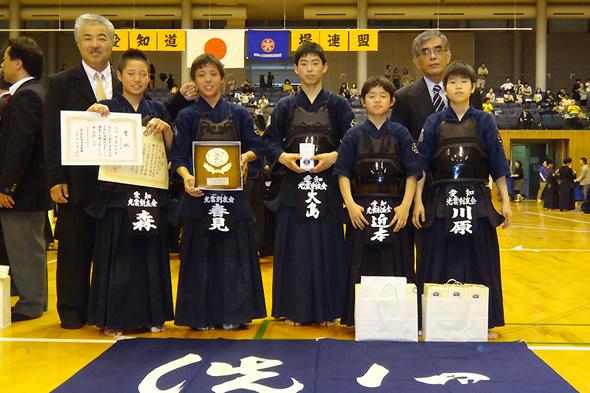 第41回愛知県少年剣道錬成大会 中学生の部 第3位 光雲剣友会チーム