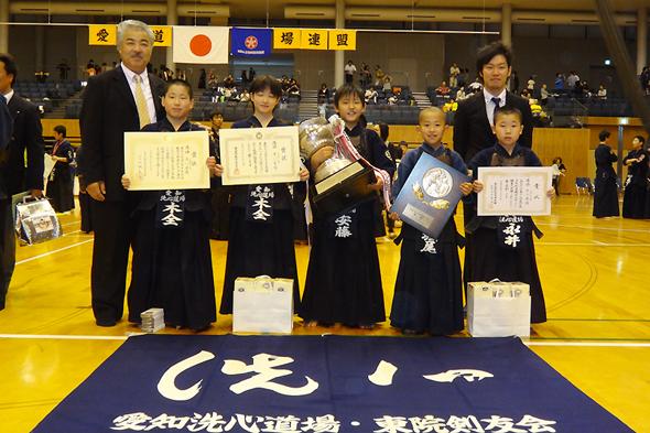 第41回愛知県少年剣道錬成大会 小学生の部 優勝 洗心道場チーム