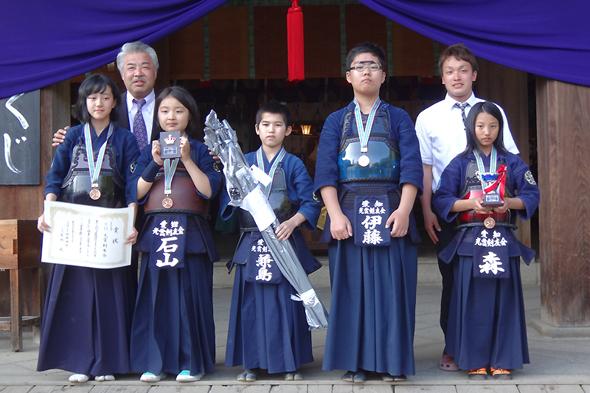 第40回砥鹿神社例祭奉納少年少女剣道大会 第3位 光雲剣友会チーム
