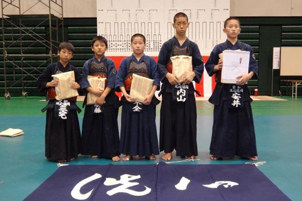 第25回愛知県警察少年柔道・剣道大会 洗心道場チーム