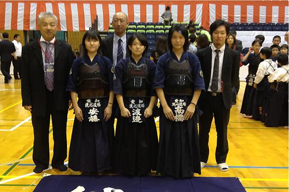 平成24年度「近藤杯」争奪剣道大会 中学生女子の部 洗心道場Aチーム