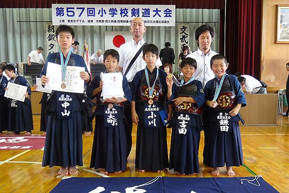 第57回小学校剣道大会 東院剣友会チーム