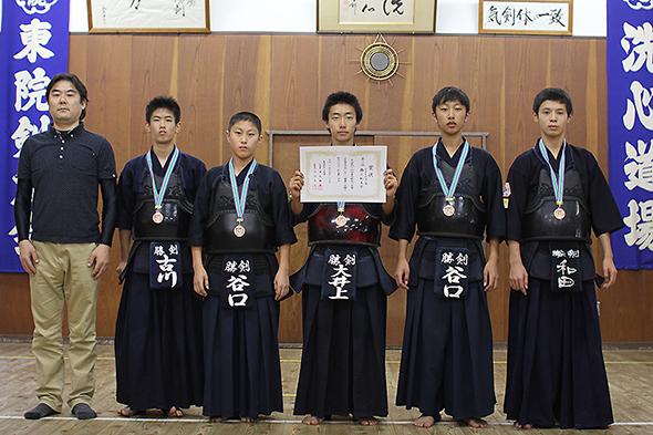 第44回東別院洗心道場少年剣道大会 中学生の部 勝川剣友会