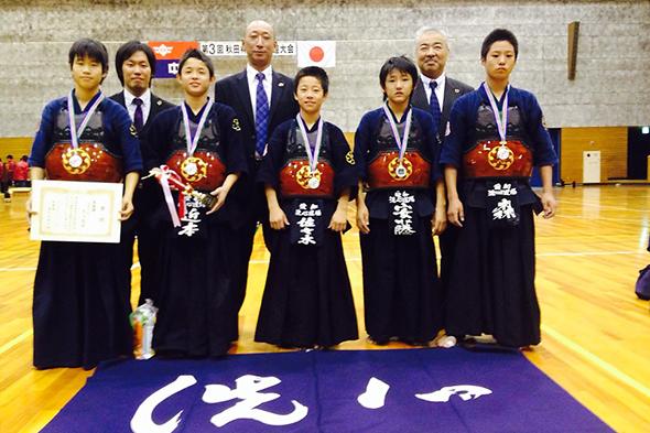 第3回秋田杯少年剣道大会 中学生の部 準優勝 洗心道場