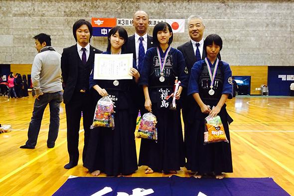 第3回秋田杯少年剣道大会 中学生女子の部 準優勝 東院剣友会