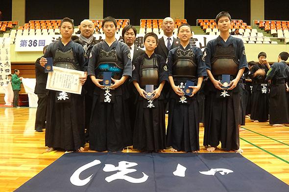 第36回凌雲館幼少年親善剣道富山大会 中学生の部 光雲剣友会