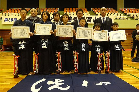 第36回凌雲館幼少年親善剣道富山大会 個人戦入賞選手
