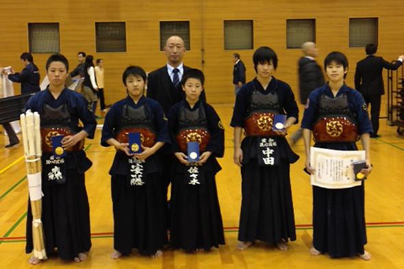 一ツ木剣道クラブ創立40周年記念大会 中学生の部 洗心道場チーム
