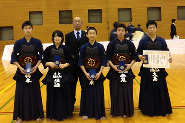 一ツ木剣道クラブ創立40周年記念大会 中学生の部 東院剣友会チーム