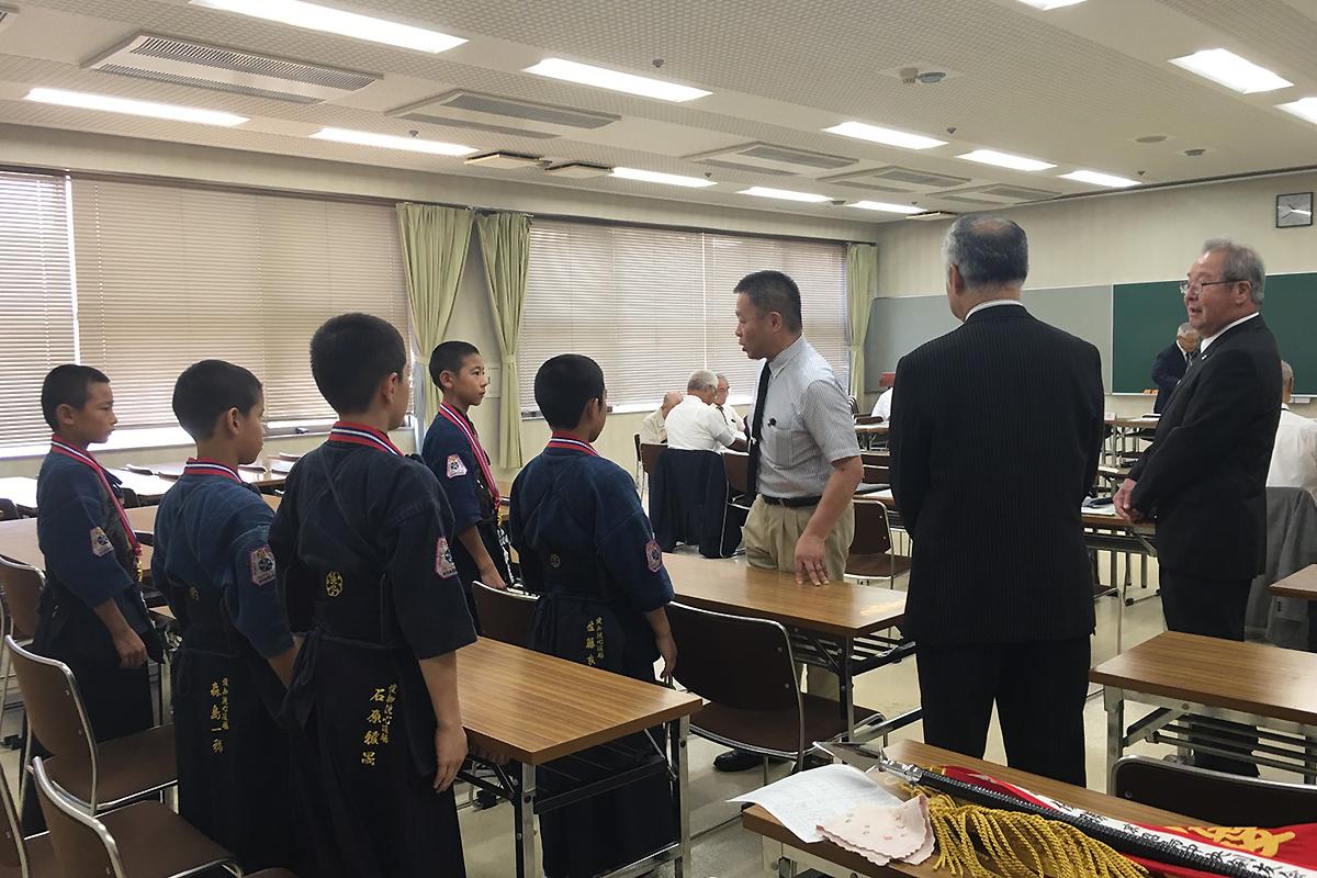 愛知県剣道連盟へ優勝報告