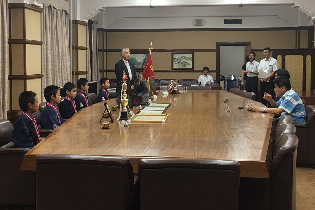 河村たかし市長に表敬訪問