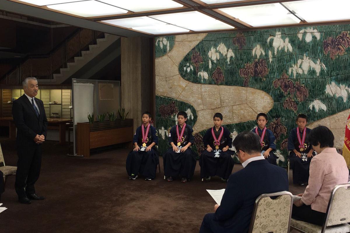 大村秀章愛知県知事に表敬訪問