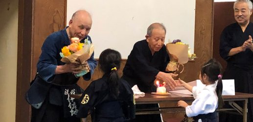 織部先生92歳・伊佐地先生傘寿(80歳)のお祝い会