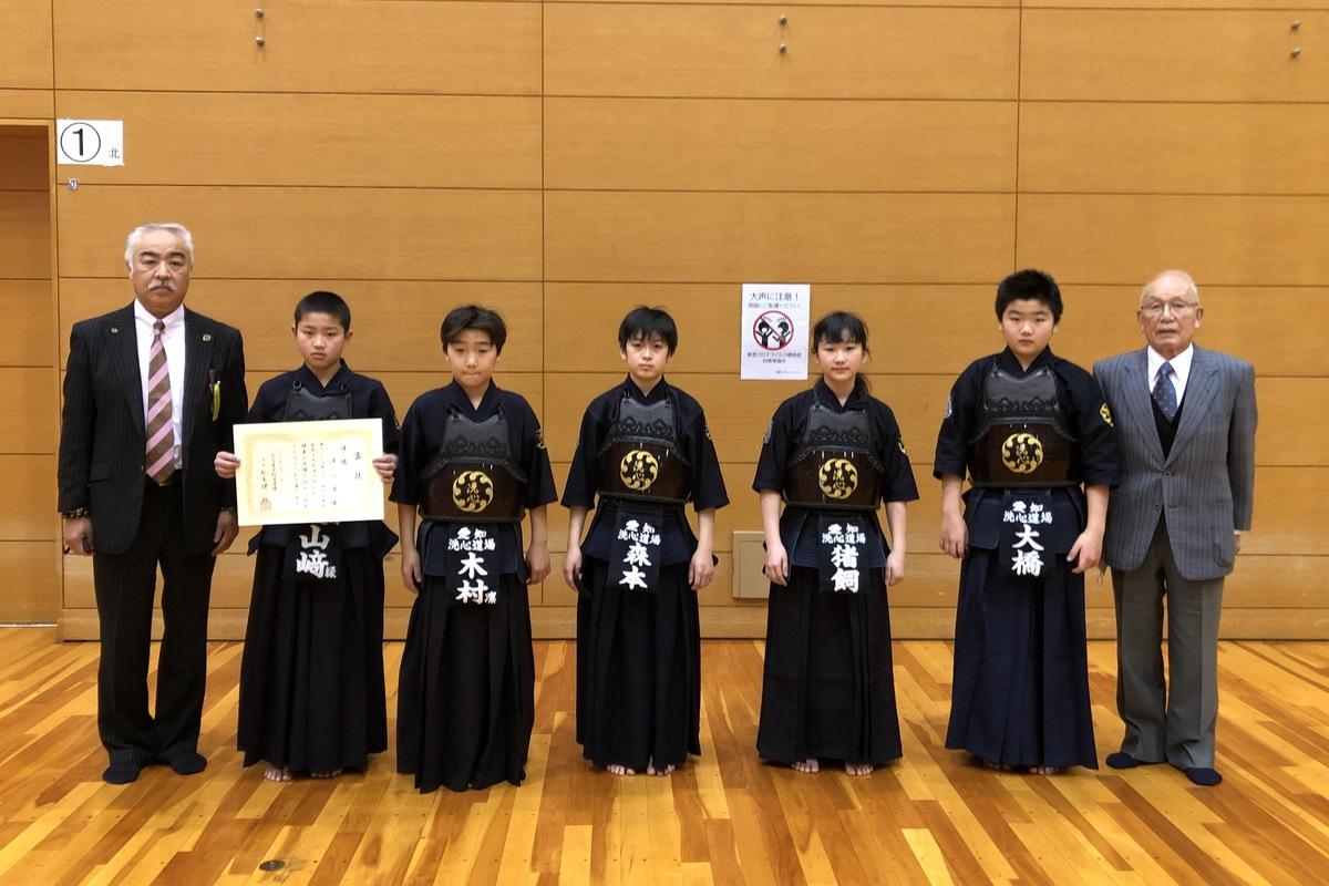 第36回名古屋市春季少年剣道大会 優勝 洗心道場